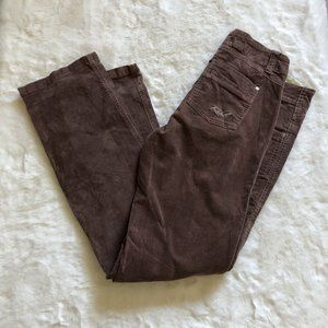 Kuhl Brown Corduroy Straight Leg Pants size 8R
